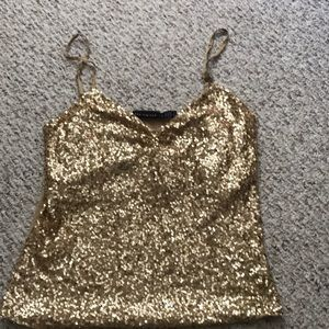 Limited gold sequin top! Fancy!